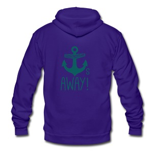 Anchors Away - Unisex Fleece Zip Hoodie by American Apparel