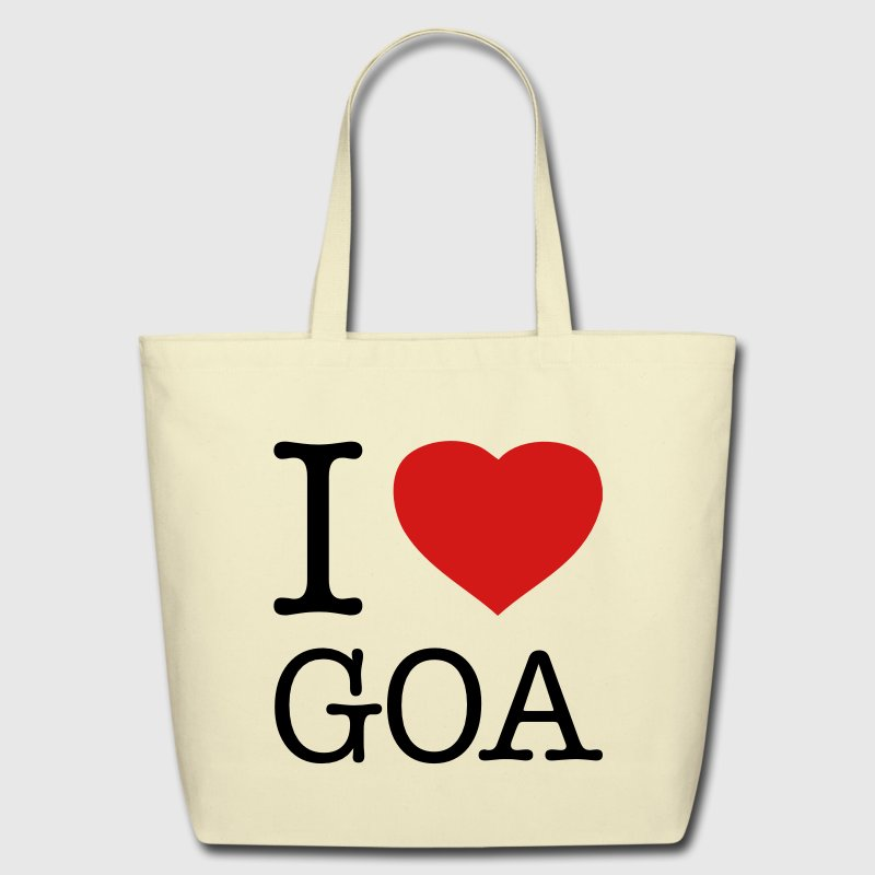 I LOVE GOA - Eco-Friendly Cotton Tote