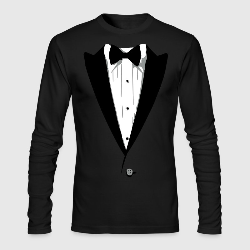 Custom Color Tuxedo Tshirt Long Sleeve Shirts - Men's Long Sleeve T-Shirt by Next Level