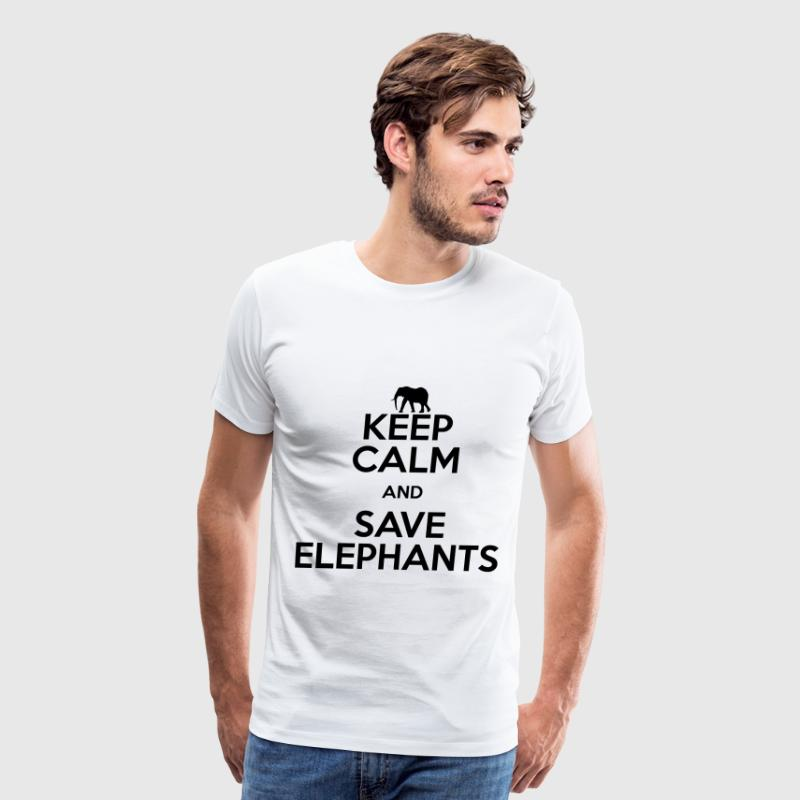 keep calm and save elephants T-Shirts - Men's Premium T-Shirt