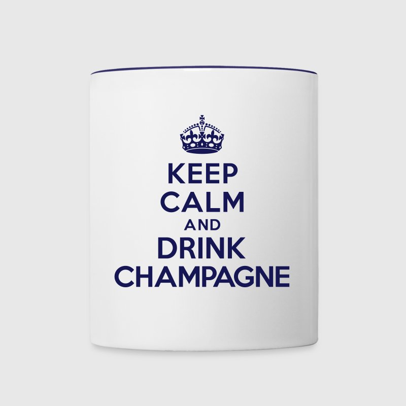 Keep calm and drink Champagne Accessories - Contrast Coffee Mug
