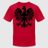 Black Polish Eagle T-Shirts - Men's T-Shirt by American Apparel