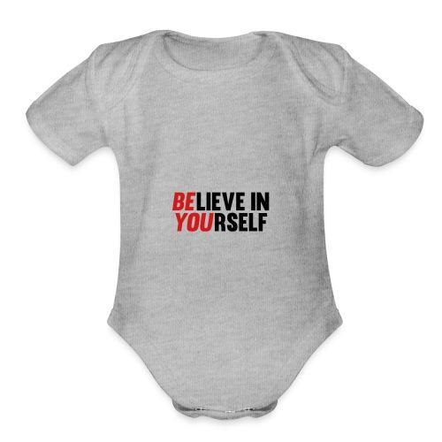Believe in Yourself - Organic Short Sleeve Baby Bodysuit