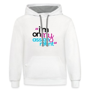 I'm On My Assignment - Contrast Hoodie