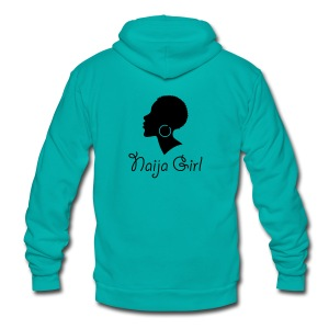 Naija Girl - Unisex Fleece Zip Hoodie by American Apparel