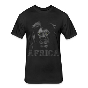 African Lion T-shirt - Fitted Cotton/Poly T-Shirt by Next Level
