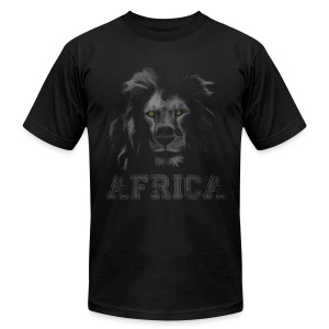 African Lion T-shirt - Men's T-Shirt by American Apparel