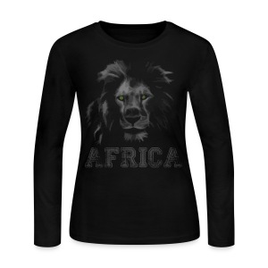 African Lion T-shirt - Women's Long Sleeve Jersey T-Shirt