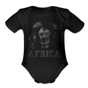 African Lion T-shirt - Short Sleeve Baby Bodysuit