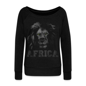 African Lion T-shirt - Women's Wideneck Sweatshirt