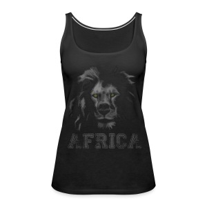 African Lion T-shirt - Women's Premium Tank Top