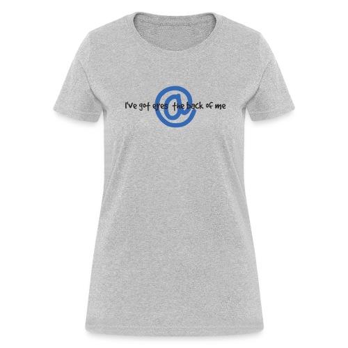 I C U Nerd Girl on Back - Women's T-Shirt