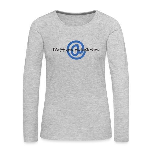 I C U Nerd Girl on Back - Women's Premium Long Sleeve T-Shirt