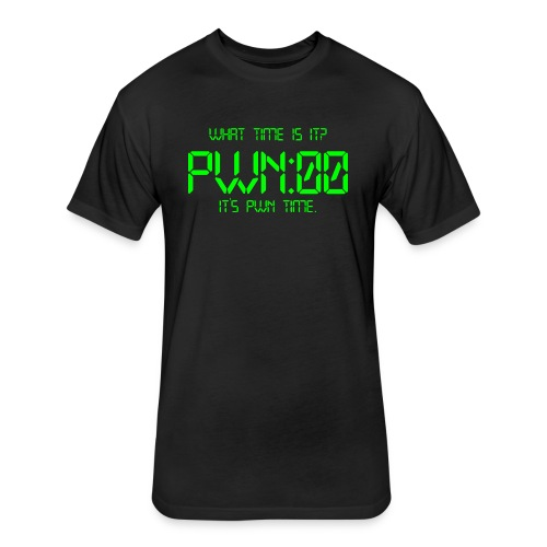 PWN time - Fitted Cotton/Poly T-Shirt by Next Level