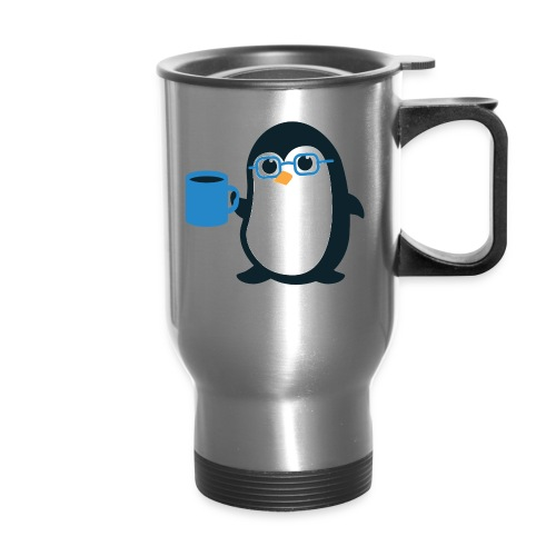 Penguin Coffee Cute - Blue Glasses