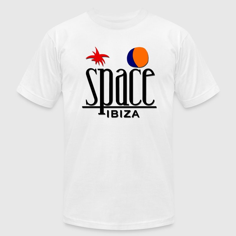 SPACE IBIZA ISLAND MEN - Men's T-Shirt by American Apparel