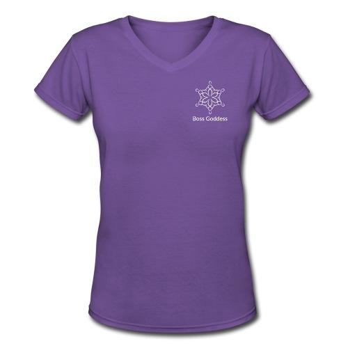 Boss Goddess Women's Logo Tee - Women's V-Neck T-Shirt