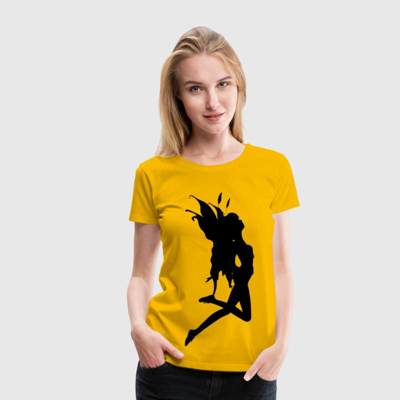 Female Fairy Silhouette 2 - Women's Premium T-Shirt