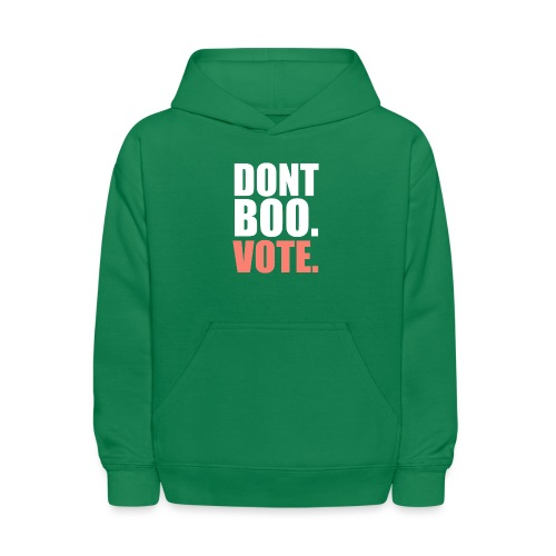 Obama Dont Boo Vote pink and green Fitted Tee W - Kids' Hoodie