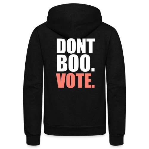 Obama Dont Boo Vote pink and green Fitted Tee W - Unisex Fleece Zip Hoodie