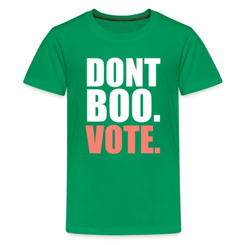 Obama Dont Boo Vote pink and green Fitted Tee W - Kids' Premium T-Shirt