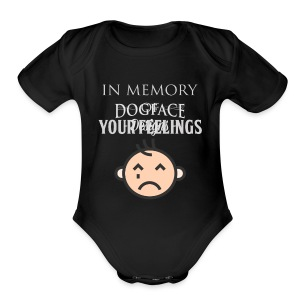 In Memory of Your Feelings - Short Sleeve Baby Bodysuit