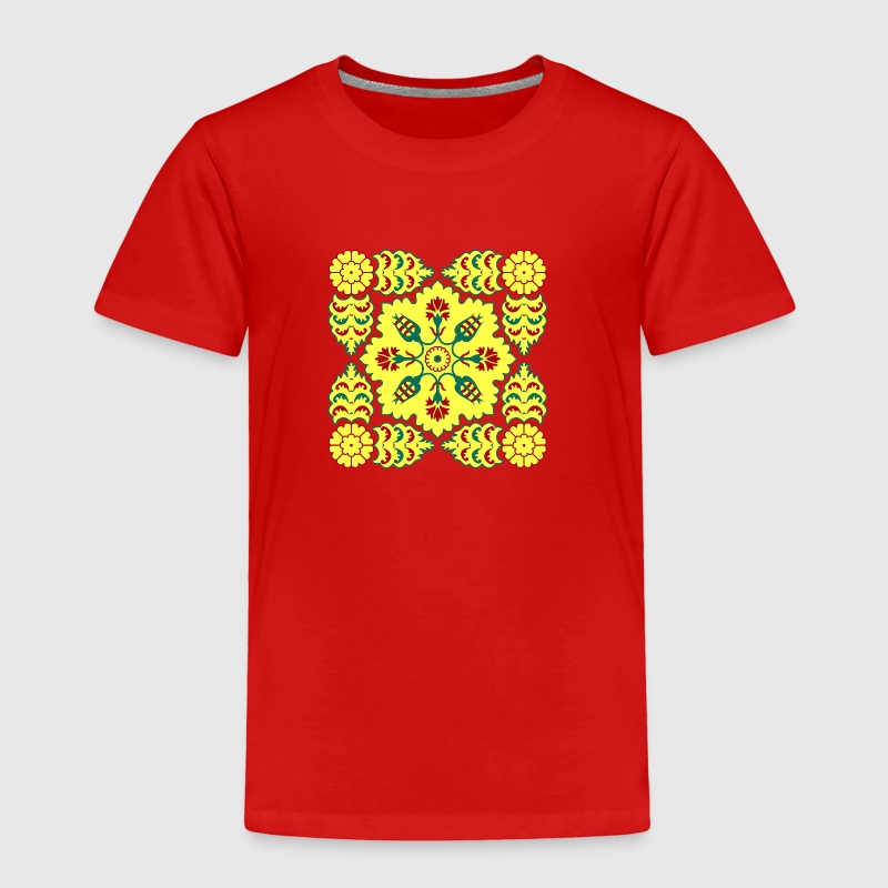 Ottoman Turkish tulip pattern in red and yellow Baby & Toddler Shirts - Toddler Premium T-Shirt