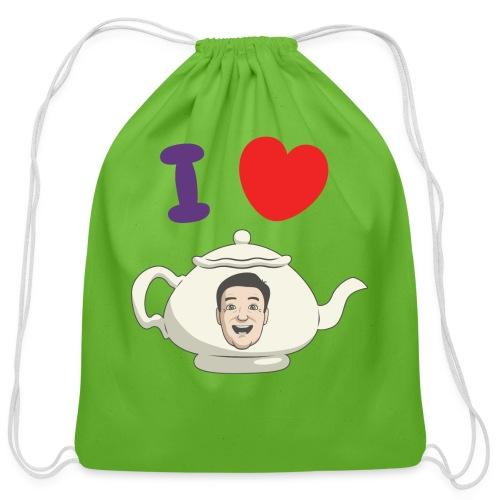 I Love Teapot - Cotton Drawstring Bag