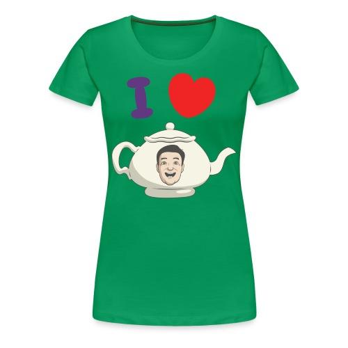 I Love Teapot - Women's Premium T-Shirt