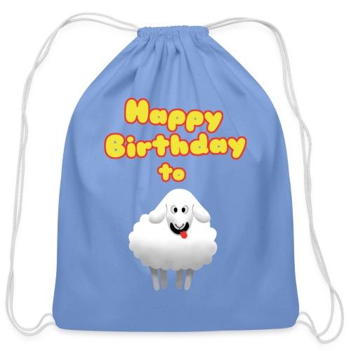 Happy Birthday to Ewe - Cotton Drawstring Bag