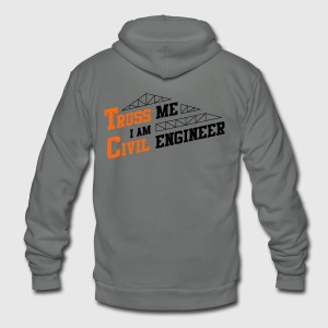 Truss Me I Am Civil Engineer - Unisex Fleece Zip Hoodie by American Apparel