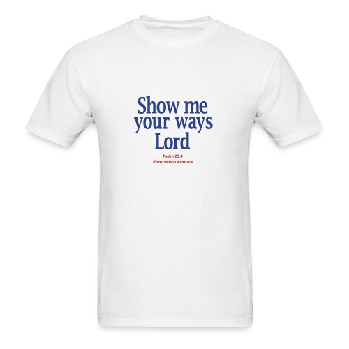 Men's T-Shirt by American Apparel - Navy on White - Men's T-Shirt