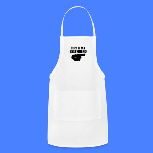 This Is My Bestfriend (Pointing Right) Phone & Tablet Cases - Adjustable Apron