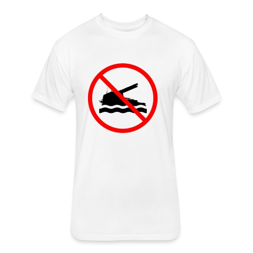 No Swimming (Women) - Fitted Cotton/Poly T-Shirt by Next Level