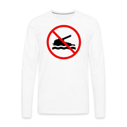 No Swimming (Women) - Men's Premium Long Sleeve T-Shirt