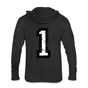 Number One T-Shirt No.1 (Men Red) Back - Unisex Tri-Blend Hoodie Shirt