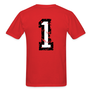 Number One T-Shirt No.1 (Men Red) Back - Men's T-Shirt