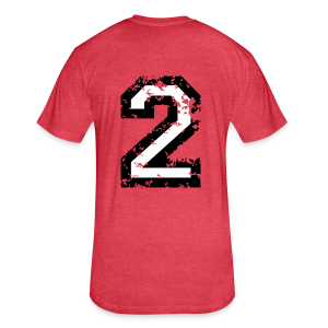 Number Two T-Shirt No.2 (Men Red) Back - Fitted Cotton/Poly T-Shirt by Next Level