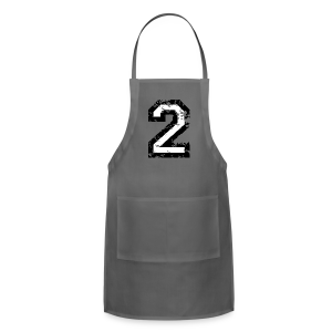 Number Two T-Shirt No.2 (Men Red) Back - Adjustable Apron