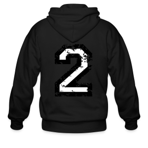 Number Two T-Shirt No.2 (Men Red) Back - Men's Zip Hoodie