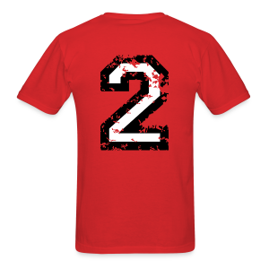 Number Two T-Shirt No.2 (Men Red) Back - Men's T-Shirt