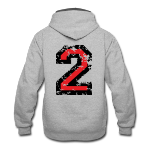 Number Two T-Shirt No.2 (Men Grey) Back - Contrast Hoodie