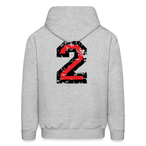 Number Two T-Shirt No.2 (Men Grey) Back - Men's Hoodie