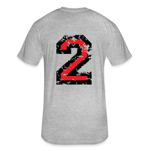 Number Two T-Shirt No.2 (Men Grey) Back - Fitted Cotton/Poly T-Shirt by Next Level