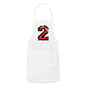 Number Two T-Shirt No.2 (Men Grey) Back - Adjustable Apron