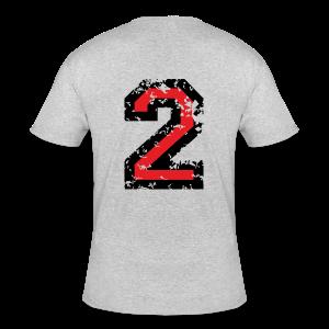 Number Two T-Shirt No.2 (Men Grey) Back - Men's 50/50 T-Shirt