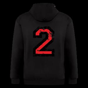 Number Two T-Shirt No.2 (Men Grey) Back - Men's Zip Hoodie