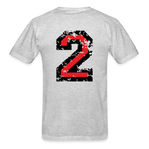 Number Two T-Shirt No.2 (Men Grey) Back - Men's T-Shirt