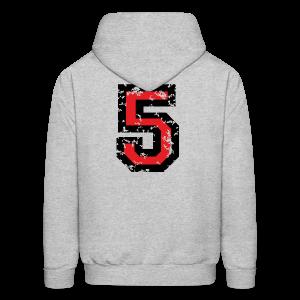Number Five T-Shirt No.5 (Men Grey) Back - Men's Hoodie