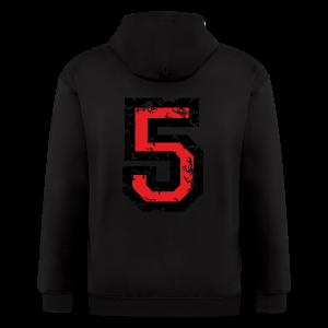 Number Five T-Shirt No.5 (Men Grey) Back - Men's Zip Hoodie
